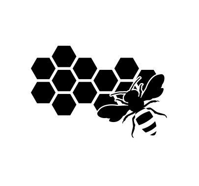 【超お買い得!】 キュートHoneycomb and and キュートHoneycomb B0798V9ZF6 Beeビニールデカールステッカー(ブラック) B0798V9ZF6, バーズソウル:7438d697 --- a0267596.xsph.ru