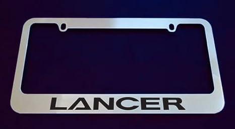 Amazon.com: Mitsubishi Lancer licencia de cromo marco de la ...