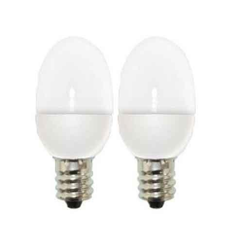 GE Lighting 76422 C7 LED Night Light Bulb with Candelabra Base, 0.5-Watt, White, 2-Pack