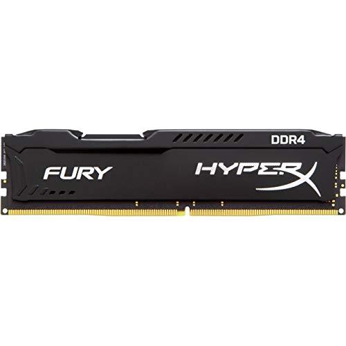 HyperX Kingston Technology Fury Black 64 GB Kit CL15 DIMM DDR4 2400 MT/s Internal Memory (HX424C15FBK4/64)