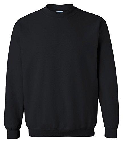Gildan 18000 - Classic Fit Adult Crewneck Sweatshirt Heavy Blend - First Quality - Black - Large Black Classic Sweatshirt
