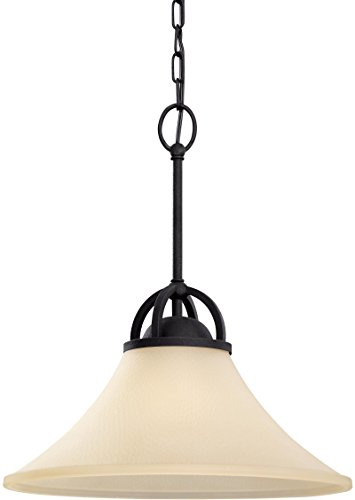 Sea Gull Lighting 65375EN3-839 Somerton Pendant, 1-Light LED 9.5 Watts, Blacksmith