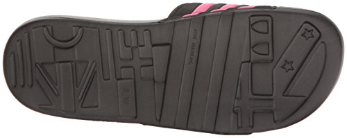 Adidas Damespresentatie W Slide Sandaal Zwart / Nacht Metallic / Shock Pink