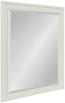 Kate and Laurel Alysia Decorative Frame Rectangle Wall Mirror, 26.5×32.5 White
