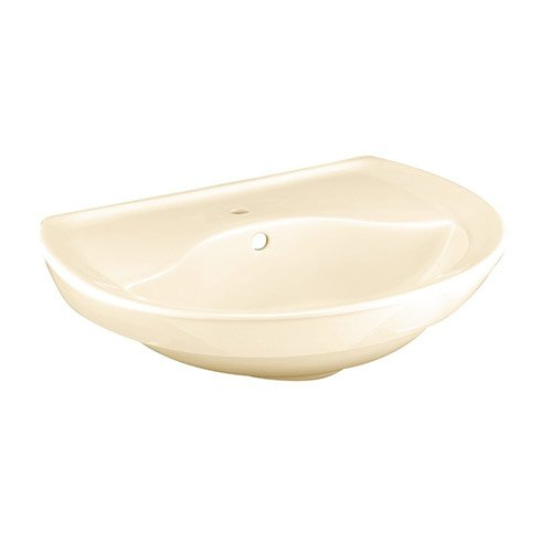 American Standard 0268.001.021 Ravenna Pedestal Sink Basin with Center Faucet (Bone Ravenna Vitreous China)
