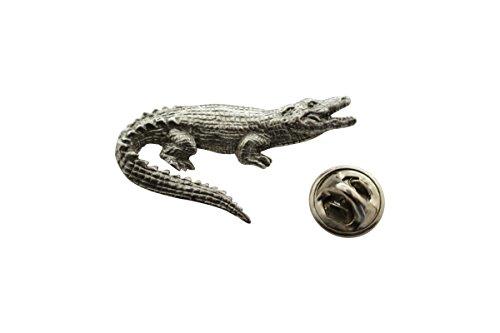 Sarah's Treats & Treasures Alligator Pin ~ Antiqued Pewter ~ Lapel Pin