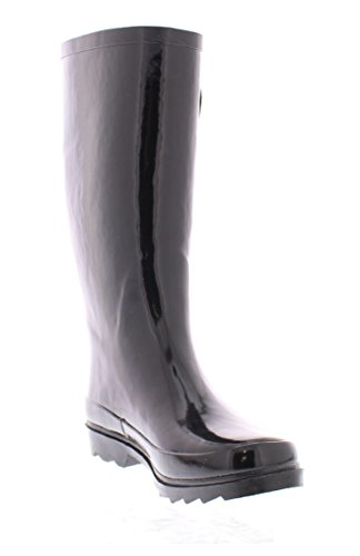 Tall Boots Black Basic Buckle Marilyn Shoes Women's Pull Jelly Monroe Midcalf Rainboot On Waterproof Welly xwfqZg