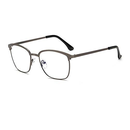 de vintage carrés variété Delaying plein Dark structure lumière bleue anti Gray Métallique de lentille lunettes verres claire Une cadre couleurs ZRRwOFnx7