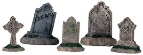 Lemax Halloween Spooky Town Set of 5 Tombstones