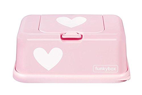 Funkybox Boî te de lingettes humides en forme de cœ ur, rose