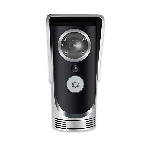 Amyove WiFi Video Audio Camera Door Bell Phone Wireless Doorbell Intercom for Android iOS Silver EU Plug
