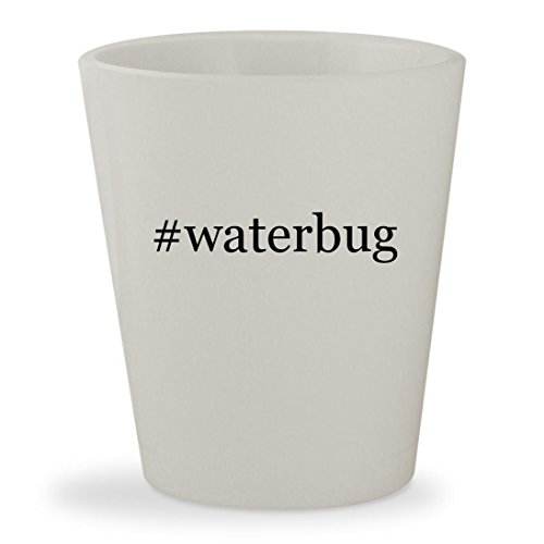 #waterbug - White Hashtag Ceramic 1.5oz Shot - Waterbugs Sunglasses