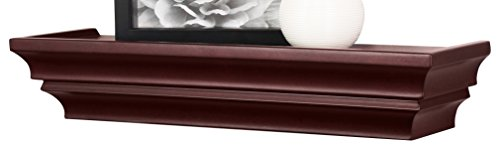 Kiera Grace Madison Contoured Wall Ledge & Shelf, 24-Inch, Espresso