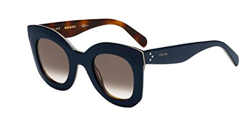 Authentic Celine CL 41093/S 273/Z3 Blue Beige Havana Sunglasses