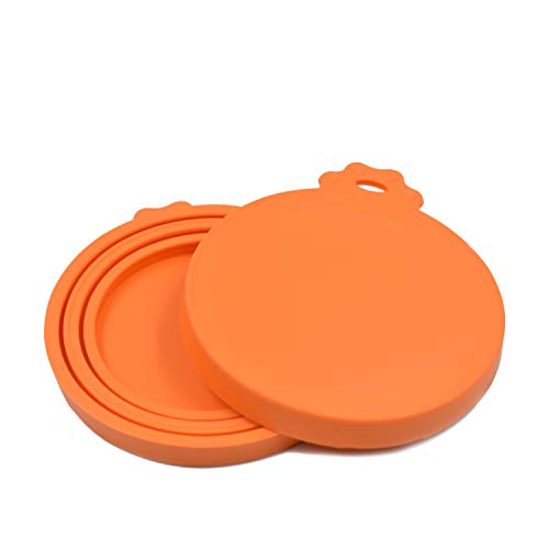AUDWUD-Pet Food Can Lid-One Fit Three Standard Size Pet Food Cans-Universal Silicone Can Tops-FDA Safe & BPA Free