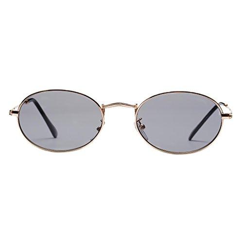 50 mm Claro Gafas Espejo Vintage Plano Dolity UV400 blanca de Metal Unisex Mujer Hombre Astilla Gris Accesorios 6SwapRqO