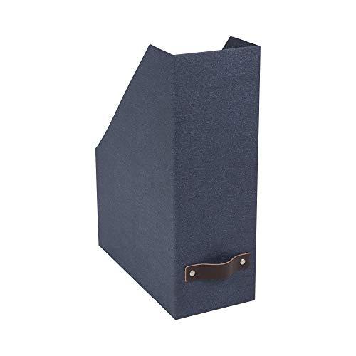 Craftworks Magazine - Bigso Estelle Canvas Paper Laminate Magazine File Storage Box Blue