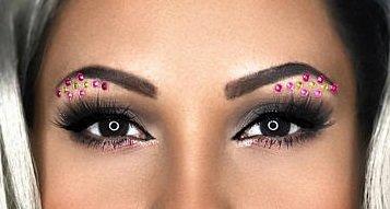 Brazilian Days - Eye Sticker Body Art Crystals - Rhinestones Face Jewel - Festival Gems Costume Accessory Unicorn - Forehead Jewelry (Brazilian Days)