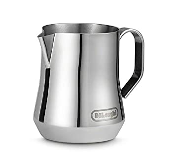 DeLonghi DLSC060 Milk Frothing Jug, 12 oz, Stainless Steel