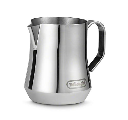 De'Longhi DLSC060 Milk Frothing Jug, 12 oz, Stainless Steel