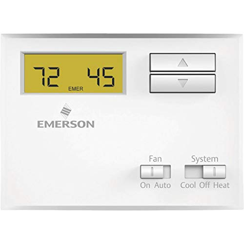 (Emerson NP100 Non-Programmable Thermostat for Single-Stage Systems)