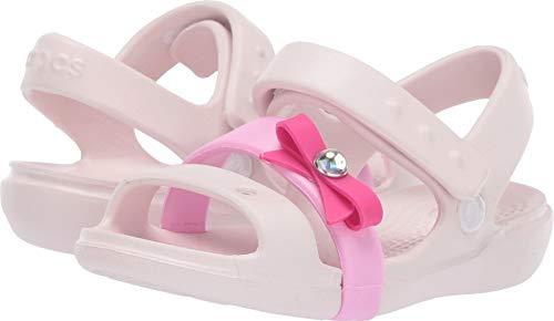 Mary Footwear Jane Crocs - Crocs Girls' Keeley Charm Sandal Mary Jane Flat Barely Pink 13 M US Little Kid