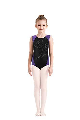 Kql Girls Kids Lace Rinestone Gymnastics Ballet Dancewear
