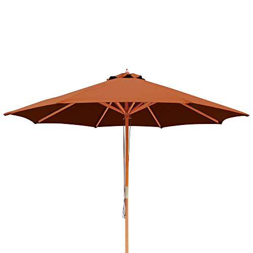 Island Umbrella NU5426TC Tranquility Patio Market Umbrella, Terra Cotta