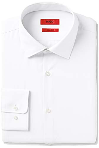 HUGO by Hugo Boss Men's Dress Shirt, White, 15