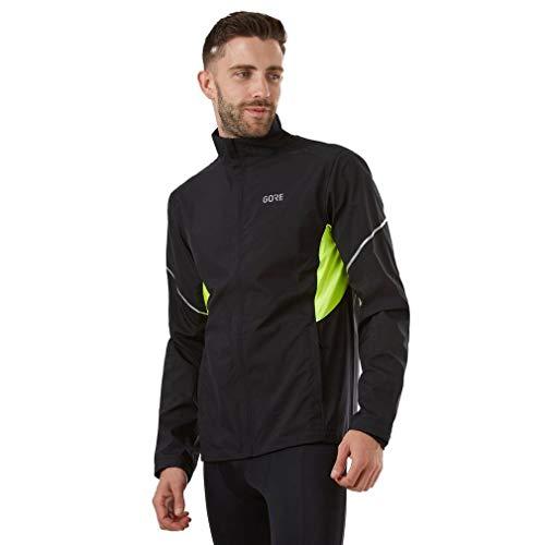 (GORE Wear R3 Men's Jacket, Partial GORE WINDSTOPPER, S, Black/Neon Yellow)