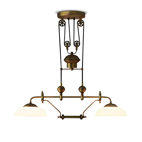 Lifting Glass 2 Chandelier, Creative Vintage Industrial Style Country European Style, Lifting Chandelier, E27 Light Source, 31-40 Watts A+