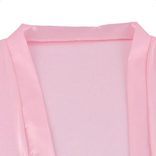 50e639df5 uxcell Silk Satin Women Lady Lingerie Robe Sleepwear Nightwear - Import It  All
