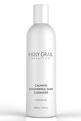 Calming Chamomile Daily Face Cleanser for Sensitive Skin with Shea Butter & Aloe Vera - Gently Remove Make-Up, Dirt & Oil Without Irritation.