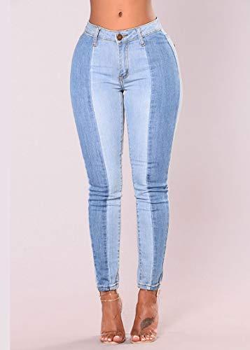 Jeans Elasticit Guocu Donna Tempo Libero P44xq5wIf