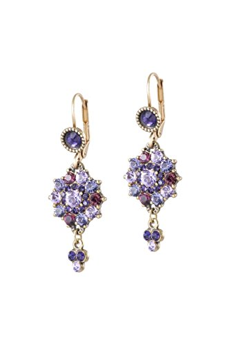 Dangle Swarovski Purple Zoey Earrings by Michal Negrin #100163931 ()