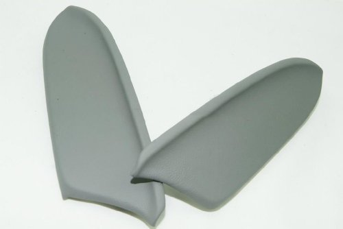 Honda Accord Real Leather Front Door Panels Armrest Covers Gray (Leather Part Only) (Real Honda Cars compare prices)