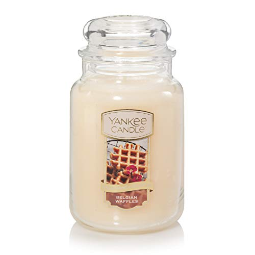 Yankee Candle Belgian Waffles, The Sunday Brunch Collection, Classic Glass Jar Candles, Large 7 Inches, 22 -