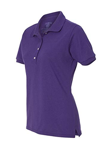 Jerzees 437W Ladies Spotshield Jersey Polo - Deep Purple, Large