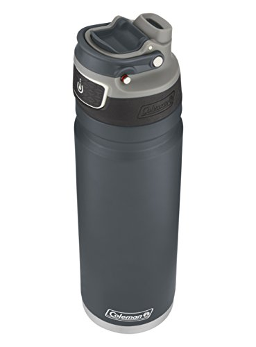 Coleman FreeFlow AUTOSEAL Insulated Stainless Steel Water Bottle, Slate, 24 oz. (Best Vacuum Insulated Bottle)