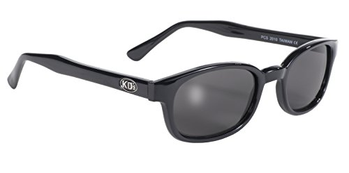 Pacific Coast Original KD's Biker Sunglasses (Black Frame/Smoke - Sunglasses Kd Biker