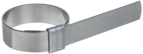 BAND-IT JS2119 Junior 3/4'' Wide x 0.030'' Thick, 3'' Diameter, 201 Stainless Steel Smooth I.D. Clamp (50 Per Box) by Band-It