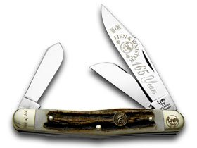 Hen and Rooster Genuine Deer Stag 165th Anniversary Stockman 1/165 Pocket Knife Knives