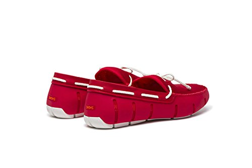 Lace Red White Loafers Men's SWIMS Braided qOYxgwWP