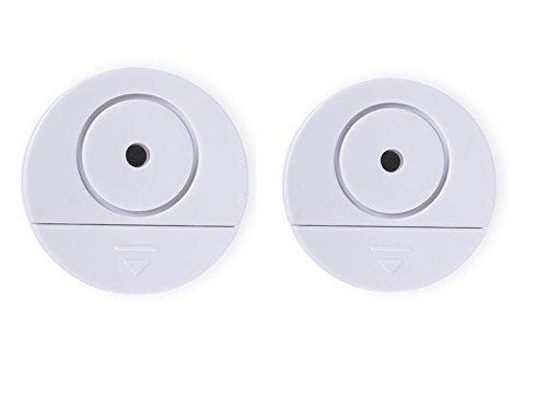 Smartwares Glasbruchalarm / Vibrationsalarm für Fenster und Türen, 2-er Pack, weiß, SC08/2