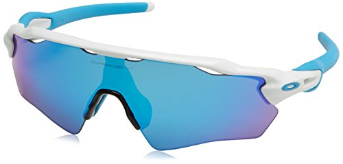 721c575c7125 Oakley Youth Boys OJ9001 Radar EV XS Path Shield Sunglasses, Polished White/Sapphire  Iridium, 31 mm