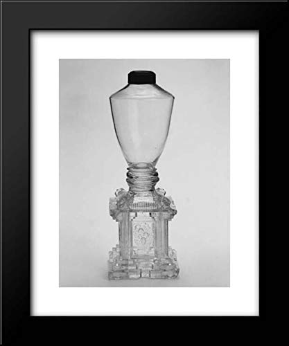 New England Glass Company - 20x24 Framed Museum Art Print- Whale Oil Lamp