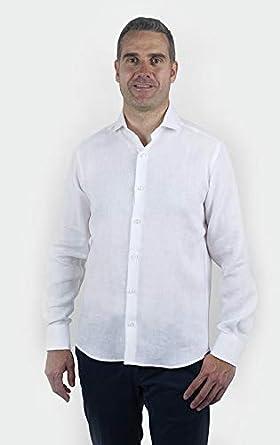 Camisa de Lino Blanca Formal para Hombre | Nueva Colección Primavera Verano … (M): Amazon.es: Ropa y accesorios