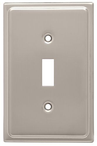 Franklin Brass 126364 Country Fair 1 Toggle Switch Wall Plate, Satin Nickel