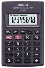 Price comparison product image Casio Hl-4a-w Portable Type Calculator with 8-digit Extra Big Display