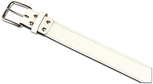 Champroレザー野球ベルト B01MXTABT0 4L|ホワイト ホワイト 4L